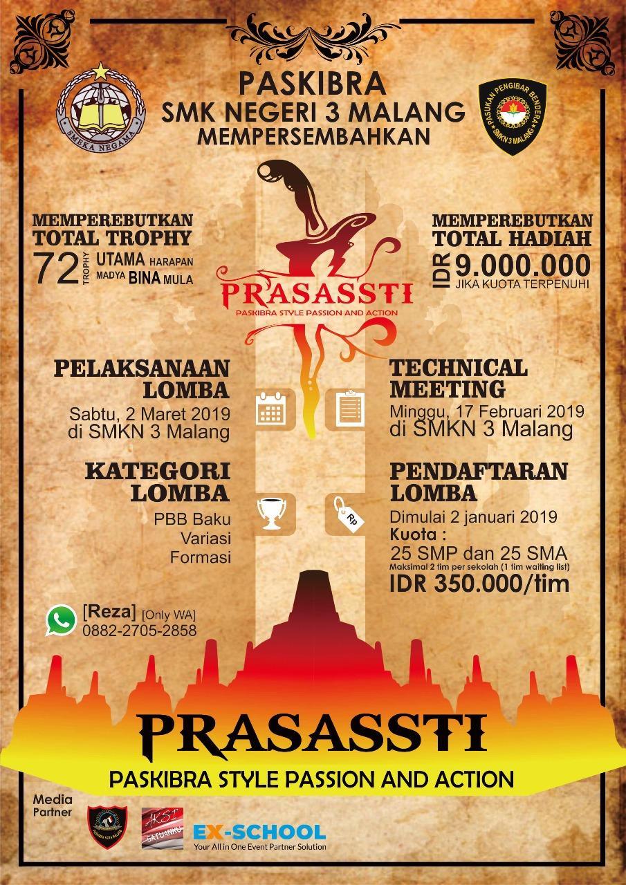 Paskibra SMKN 3 Malang - LKBB PRASASSTI 2019