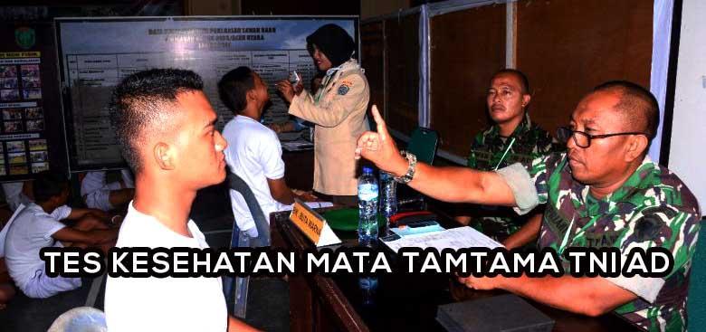 Tips Lolos Tes Kesehatan Mata Tamtama TNI AD