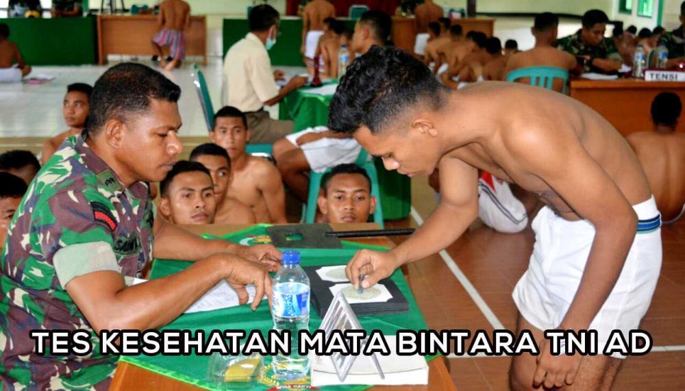 Tips Lolos Tes Kesehatan Mata Bintara TNI AD